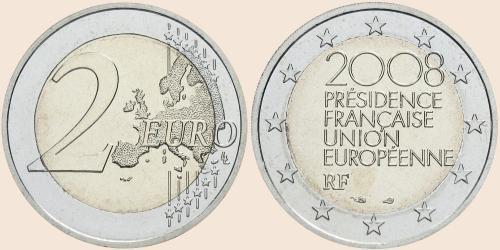 Münzkatalog Online 2 Euro 2008 Französischer Vorsitz Im Rat Der