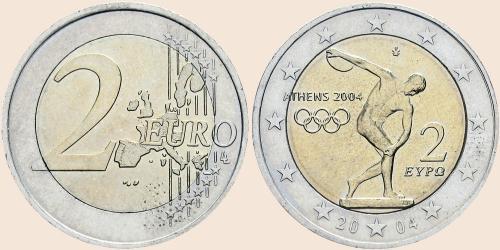 Münzkatalog Online 2 Euro 2004 Olympische Sommerspiele In Athen