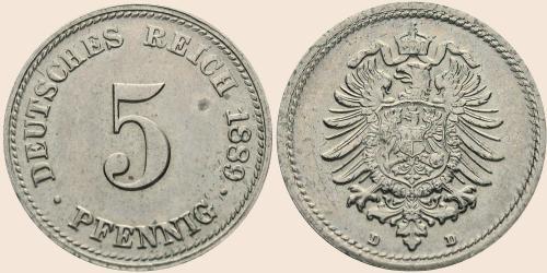Münzkatalog Online 5 Pfennig 1874 1889