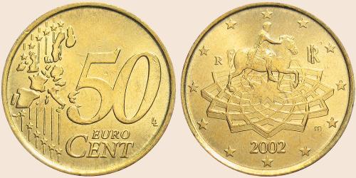 Münzkatalog Online 50 Cent 2002 2007