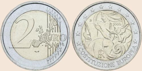 Münzkatalog Online 2 Euro 2005 1 Jahrestag Der Unterzeichnung Der