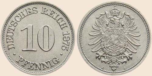 Münzkatalog Online 10 Pfennig 1873 1889