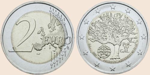 Münzkatalog Online 2 Euro 2007 Portugiesischer Vorsitz Im Rat Der