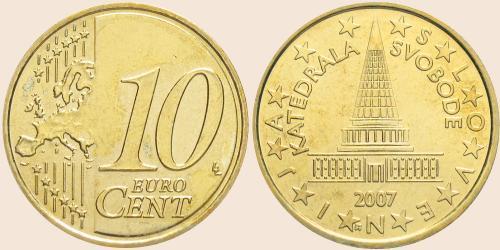 Münzkatalog Online 10 Cent 2007