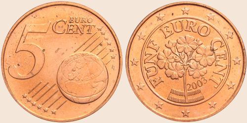 Münzkatalog Online 5 Cent 2002
