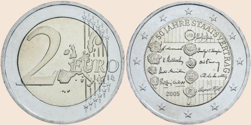 Münzkatalog Online 2 Euro 2005 50 Jahre Staatsvertrag