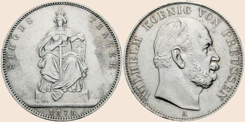 Münzkatalog Online 1 Taler 1871 Sieg über Frankreich 1871