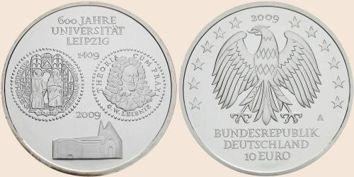 Münzkatalog Online 10 Euro 2009 600 Jahre Universität Leipzig