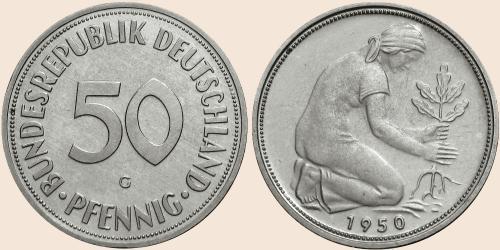 Münzkatalog Online 50 Pfennig 1950 1971