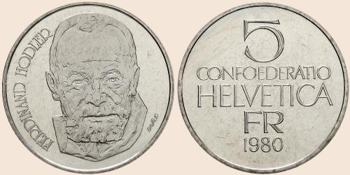 Münzkatalog Online 5 Franken 1980 Ferdinand Hodler