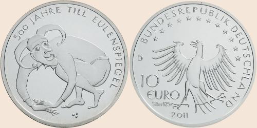 Münzkatalog Online 10 Euro 2011 500 Jahre Till Eulenspiegel