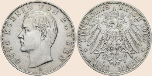 Münzkatalog Online 3 Mark 1908 1913