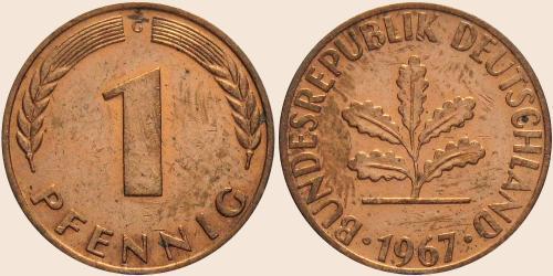 Münzkatalog Online 1 Pfennig 1950 2001