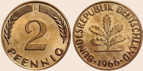 Münzkatalog Online 2 Pfennig 1950 1969