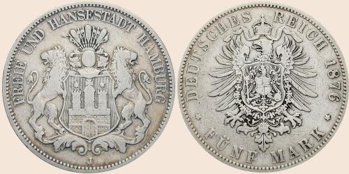 Münzkatalog Online 5 Mark 1875 1888