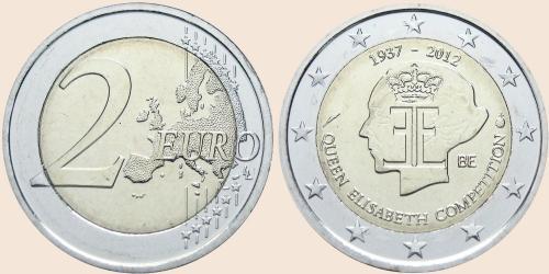 Münzkatalog Online 2 Euro 2012 75 Jahrestag Des Königin Elisabeth