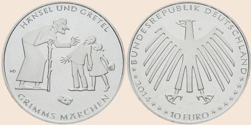 Münzkatalog Online 10 Euro 2014 Hänsel Und Gretel