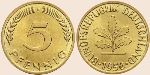 Münzkatalog Online 5 Pfennig 1950 2001
