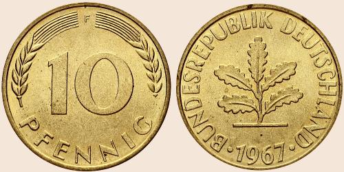 Münzkatalog Online 10 Pfennig 1950 2001