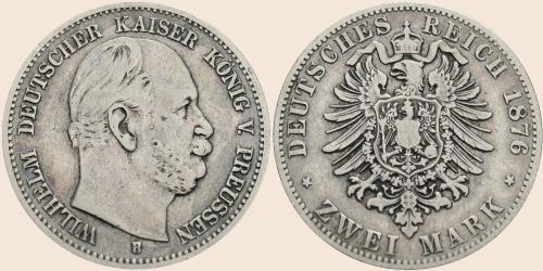 Münzkatalog Online 2 Mark 1876 1884