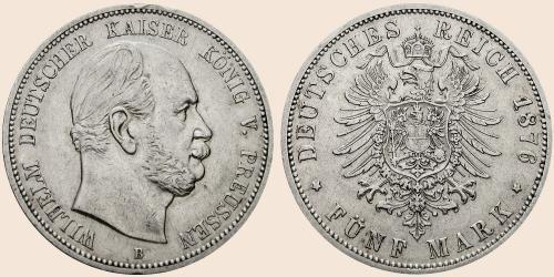 Münzkatalog Online 5 Mark 1874 1876