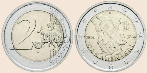 Münzkatalog Online 2 Euro 2014 200 Jahrestag Der Gründung Der
