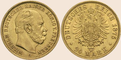 Münzkatalog Online 20 Mark 1874 1888