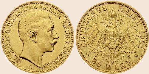 Münzkatalog Online 20 Mark 1890 1913