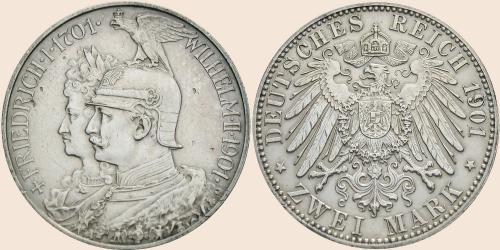 Münzkatalog Online 2 Mark 1901 200 Jahrestag Der Erhebung