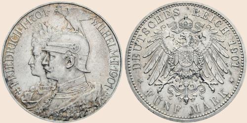 Münzkatalog Online 5 Mark 1901 200 Jahrestag Der Erhebung