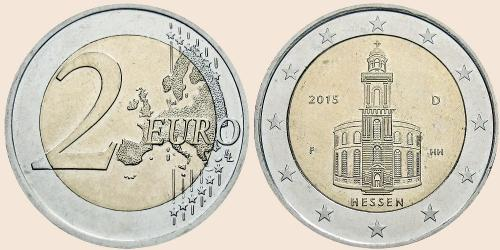 Münzkatalog Online 2 Euro 2015 Hessische Ratspräsidentschaft