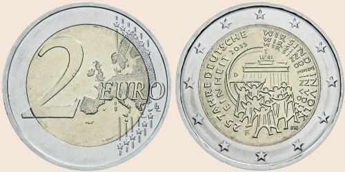 Münzkatalog Online 2 Euro 2015 25 Jahre Deutsche Einheit