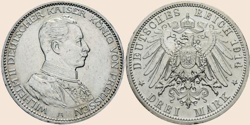 Münzkatalog Online 3 Mark 1914