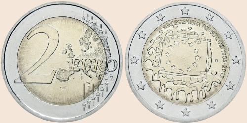 Münzkatalog Online 2 Euro 2015 30 Jahre Europaflagge