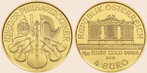 Münzkatalog Online 4 Euro 2014 Wiener Philharmoniker