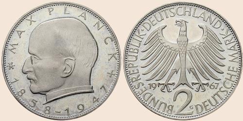 Münzkatalog Online 2 Deutsche Mark 1957 1971 100 Geburtstag Von