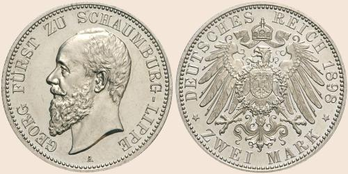 Münzkatalog Online 2 Mark 1898 1904
