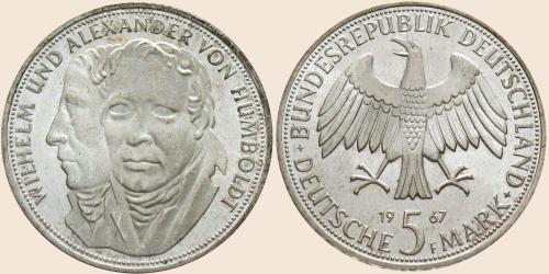 Münzkatalog Online 5 Deutsche Mark 1967 200 Geburtstag Von