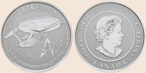 Münzkatalog Online 20 Dollar 2016 50 Jahre Star Trek