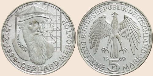 Münzkatalog Online 5 Deutsche Mark 1969 375 Todestag Von Gerhard