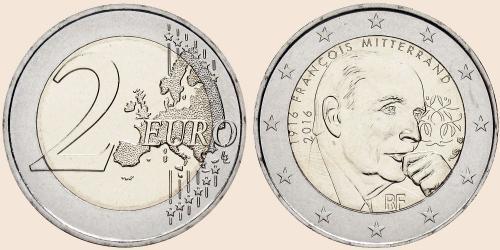 Münzkatalog Online 2 Euro 2016 100 Geburtstag Von Francois Mitterrand