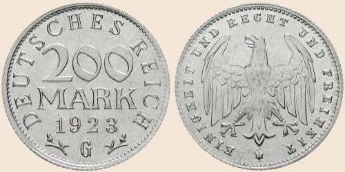 Münzkatalog Online 200 Mark 1923
