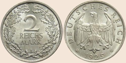 Münzkatalog Online 2 Reichsmark 1925 1931