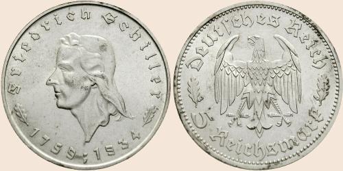 Münzkatalog Online 5 Reichsmark 1934 175 Geburtstag Von Friedrich