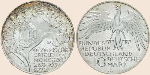 Münzkatalog Online 10 Deutsche Mark 1972 Spiele Der Xx Olympiade
