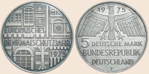 Münzkatalog Online 5 Deutsche Mark 1975 Europäisches