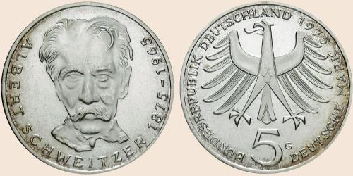 Münzkatalog Online 5 Deutsche Mark 1975 100 Geburtstag Von Albert