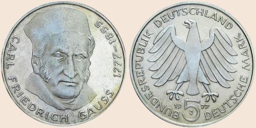 Münzkatalog Online 5 Deutsche Mark 1977 200 Geburtstag Von Carl