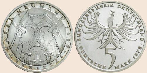 Münzkatalog Online 5 Deutsche Mark 1978 225 Todestag Von