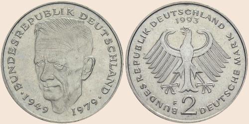 Münzkatalog Online 2 Deutsche Mark 1979 1993 30 Jahrestag Der